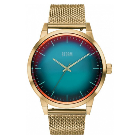 Mens Storm Styro Gold Turquoise Watch