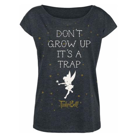 Peter Pan Tinker Bell - Don't Grow Up T-Shirt mottled dark grey