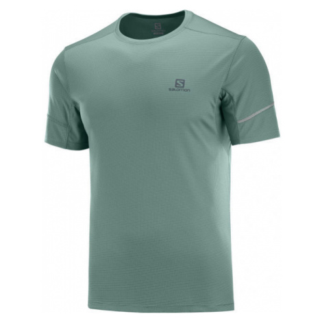 Salomon AGILE SS TEE M dark green - Men's T-shirt