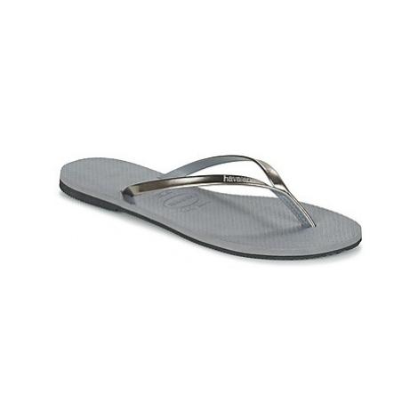 Havaianas YOU METALLIC women's Flip flops / Sandals (Shoes) in Grey
