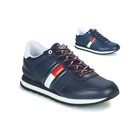 Tommy Jeans LEATHER LIFESTYLE SNEAKER men's Shoes (Trainers) in Blue Tommy Hilfiger