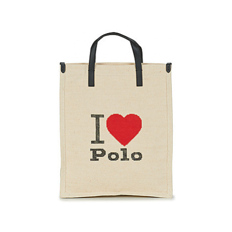 Polo Ralph Lauren I HRT POLO CVS/LTHR women's Shopper bag in White