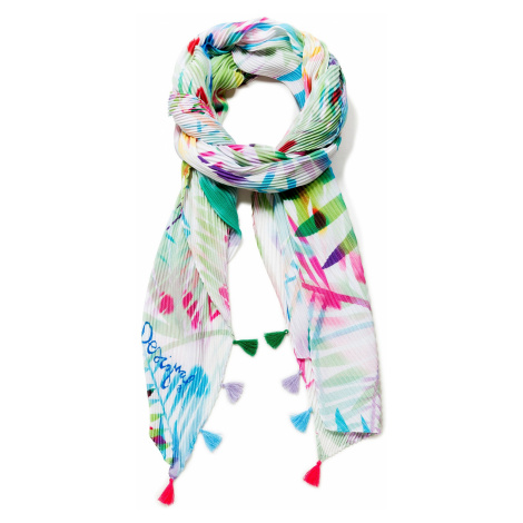 shawl Desigual 19SAWF75/Palm - 1002/Crudo V - women´s
