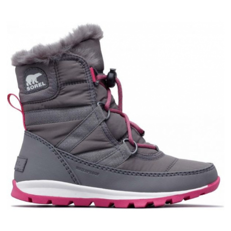 Grey girls' snow boots