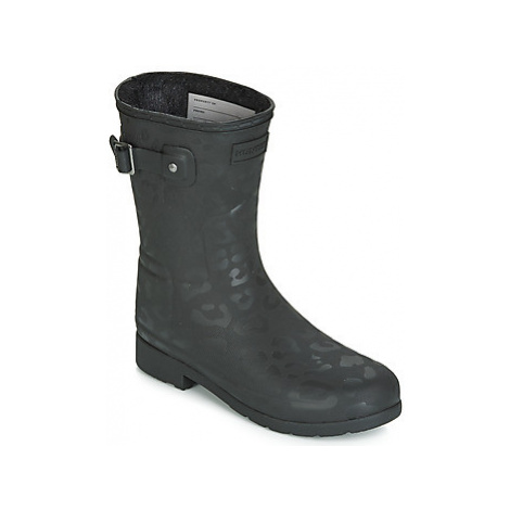 Hunter REFINED INSULATED SHORT women's Wellington Boots in Black