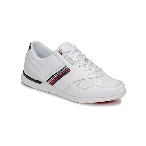 Tommy Hilfiger CRYSTAL LIGHTWEIGHT SNEAKER women's Shoes (Trainers) in White
