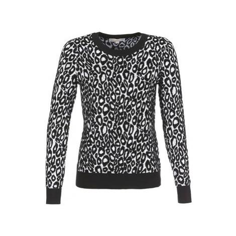 MICHAEL Michael Kors ANIMAL JACQD LS CREW women's Sweater in Black