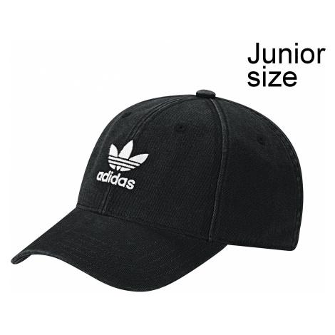 cap adidas Originals Washed Adicolor Baseball - Black/White - unisex junior