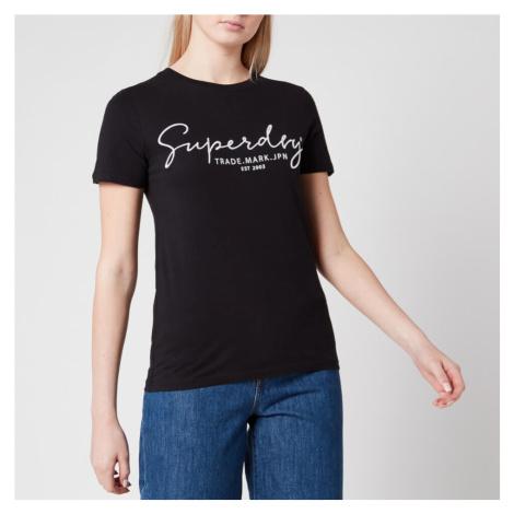 Superdry Women's Alice Script Emb Entry T-Shirt - Black