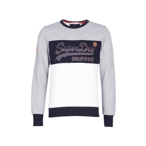 Superdry VINTAGE LOGO PANEL CREW men's Sweatshirt in Grey