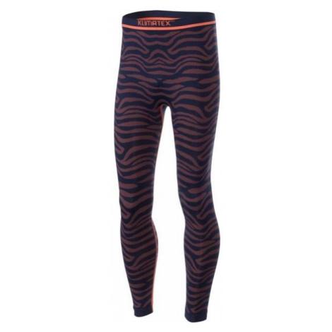 Klimatex DUCI orange - Girls' functional thermal leggings
