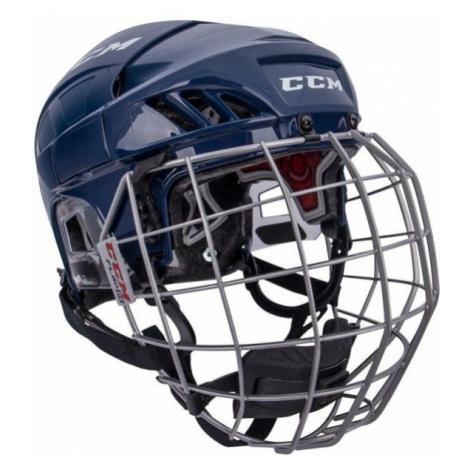 CCM FL60C SR COMBO blue - Hockey helmet