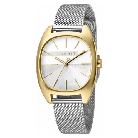 Esprit Infinity Women's Watch featuring a Stainless Steel Mesh Strap and Silver Dial