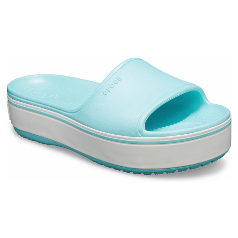 shoes Crocs Crocband Platform Slide - Light Ice Blue/Ice Blue - women´s