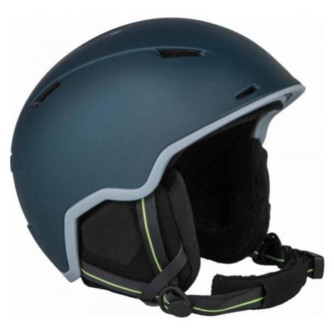 Green ski helmets