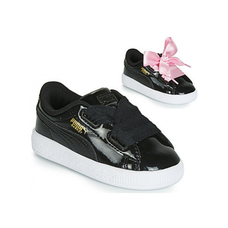 Puma INF BASKET HEART PATENT.BL girls's Children's Shoes (Trainers) in Black