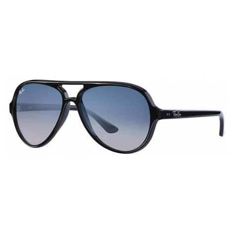 Ray-Ban Cats 5000 classic Man Sunglasses Lenses: Blue, Frame: Black - RB4125 601/3F 59-13