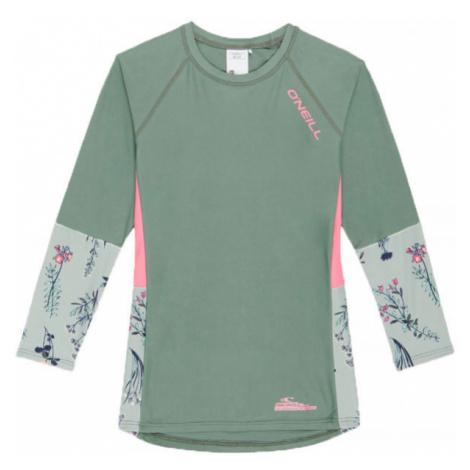 O'Neill PG PRINT L/SLV SKINS green - Girl's T-shirt