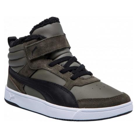 Puma REBOUND STREET V2 FUR PS green - Kids' leisure shoes
