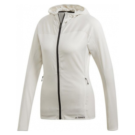 adidas TERREX TRACEROCKER HOODED FLEECE grey - Women's hoodie