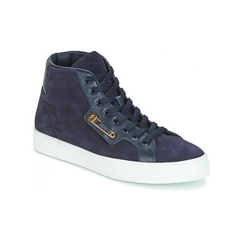 John Galliano FAROM men's Shoes (High-top Trainers) in Blue