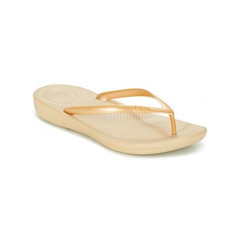 FitFlop IQUSHION ERGONOMIC FLIP-FLOPS women's Flip flops / Sandals (Shoes) in Gold