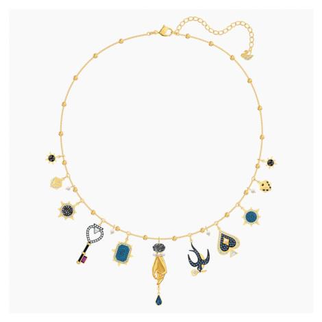 Tarot Magic Necklace, Multi-coloured, Gold-tone plated Swarovski