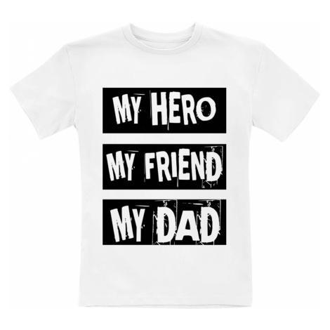 Family & Baby My Hero, My Friend, My Dad T-Shirt white