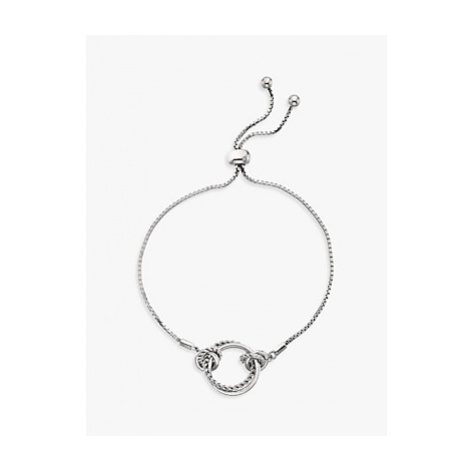 Hot Diamonds Unity Diamond Circle Box Chain Bracelet, Silver