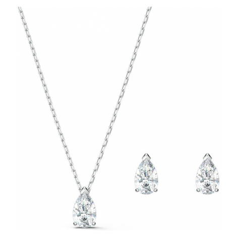 Swarovski Attract Pear Crystal Necklace & Earring Set