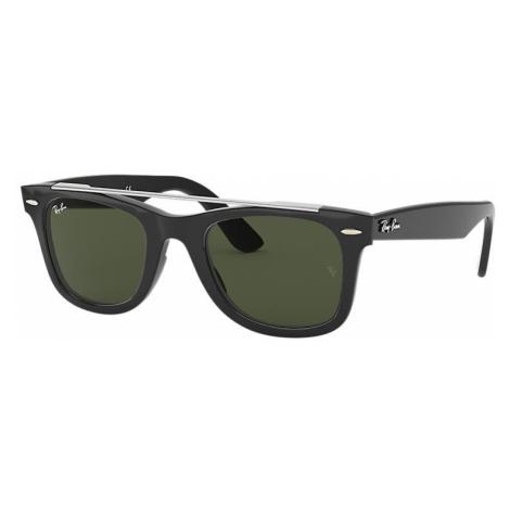 Ray-Ban Wayfarer double bridge Unisex Sunglasses Lenses: Green, Frame: Black - RB4540 601/31 50-