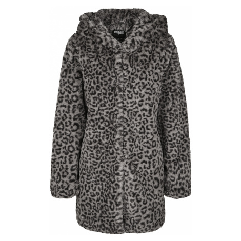 Urban Classics - Ladies Leo Teddy Coat - Girls coat - grey-black