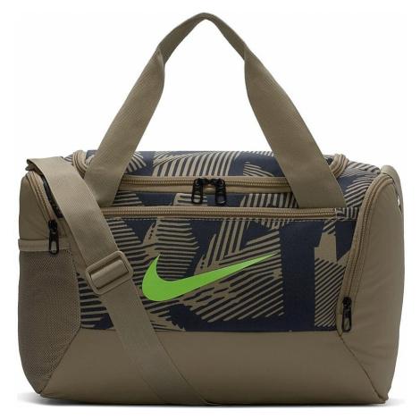 bag Nike Brasilia XSmall Duffel 9.0 AOP - 247/Khaki/Khaki/Ghost Green