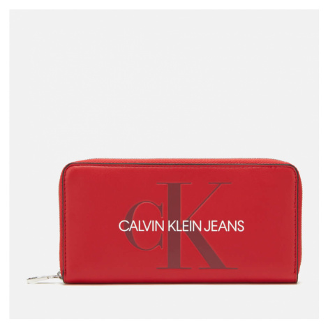 Calvin Klein Jeans Women's Large Ziparound Purse - Cherry