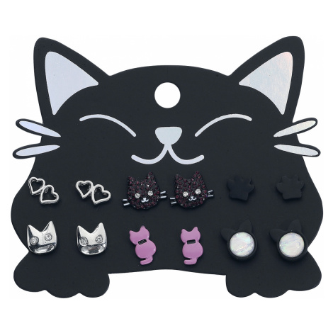 Blackheart - Cats - Earpin set - multicolour