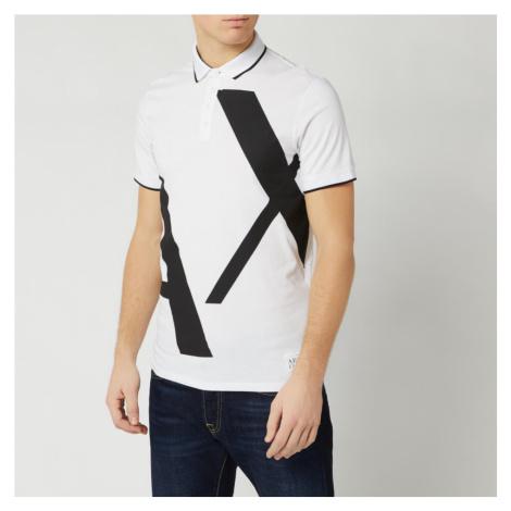 Armani Exchange Men's Large Logo Polo Shirt - White