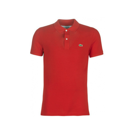 Lacoste PH4012 SLIM men's Polo shirt in Red