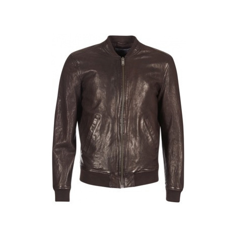 Chevignon TED VEGETAL men's Leather jacket in Brown