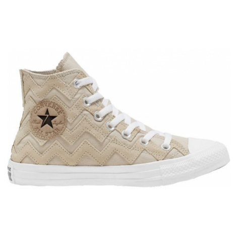 Converse CHUCK TAYLOR ALL STAR VLTG SUEDE OVERLAY beige - Women's ankle shoes