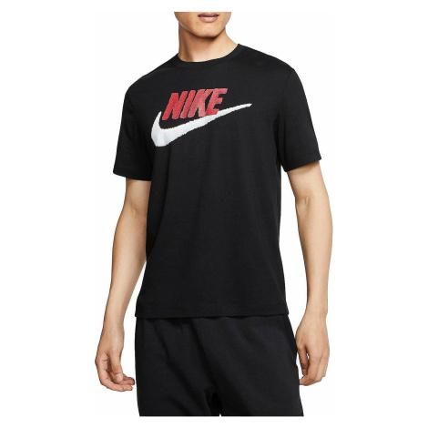 T-Shirt Nike Sportswear Brand Mark - 013/Black/University Red/White - men´s