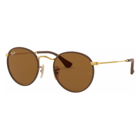 Ray Ban Unisex RB3475Q ROUND CRAFT - Frame color: Brown, Lens color: Brown, Size 50-21/145