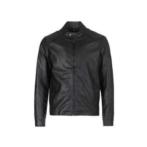 Yurban IMIMID men's Leather jacket in Black