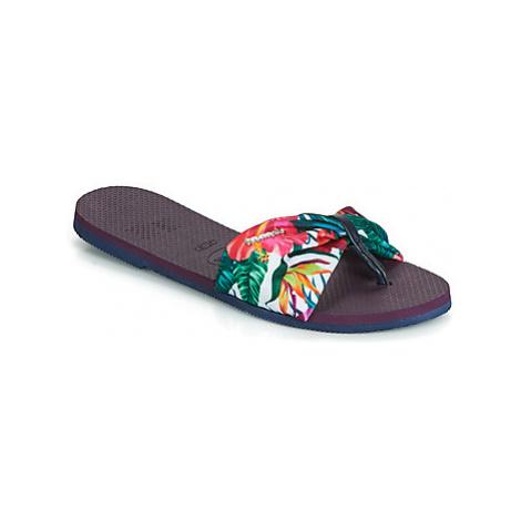 Havaianas YOU ST TROPEZ women's Flip flops / Sandals (Shoes) in Purple
