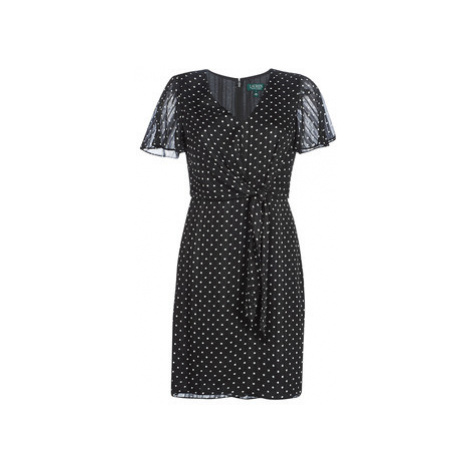 Lauren Ralph Lauren POLKA DOT-SHORT SLEEVE-DAY DRESS women's Dress in Black