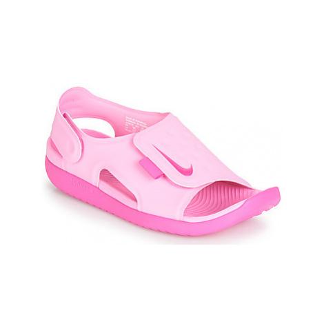 Nike SUNRAY ADJUST 5 girls's Children's Sandals in Pink