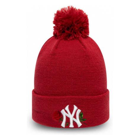 New Era MLB TWINE BOBBLE KNIT KIDS NEW YORK YANKEES red - Girls' winter hat