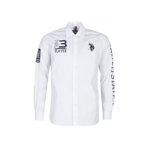 U.S Polo Assn. USPA TEAM SHIRT FC men's Long sleeved Shirt in White U.S. Polo Assn