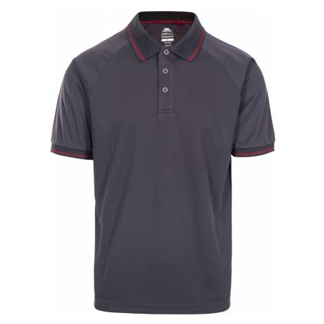 Trespass Mens Bonington Quick Dry Polo Shirt-Dark Grey-L
