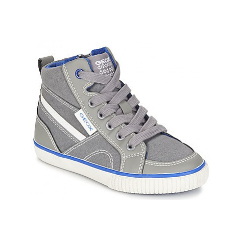 Geox J KIWI B. O boys's Children's Shoes (High-top Trainers) in Grey