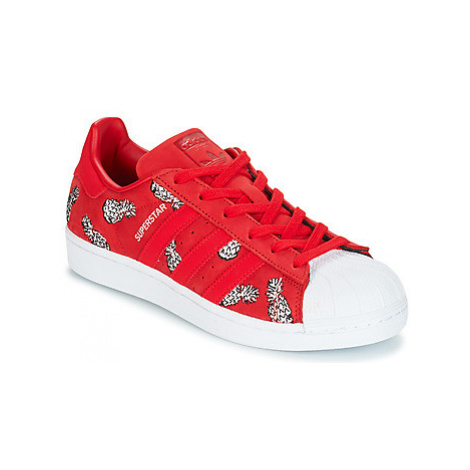 Adidas SUPERSTAR W women's Shoes (Trainers) in Red